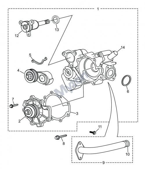Jaguar X-Type - Water Pump-V6 Petrol Diagram - Justjagsuk in Jaguar X Type Parts Diagram