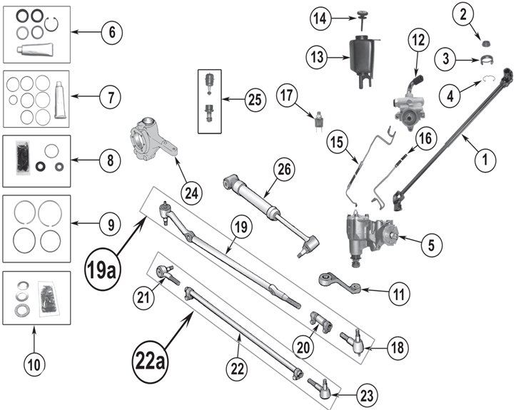 Jeep Cherokee Xj Steering Parts Quadratec Within Jeep Cherokee Parts Diagrams on 98 Jeep Cherokee Fuse Diagram