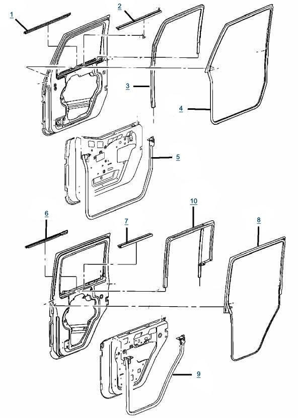 Jeep Jk Wrangler Door Parts | Free Shipping At 4Wd within Jeep Wrangler Jk Parts Diagram