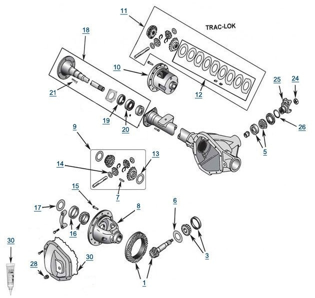 Jeep Liberty Model 35 Rear Axle | Free Shipping At 4Wd pertaining to 2005 Jeep Liberty Parts Diagram