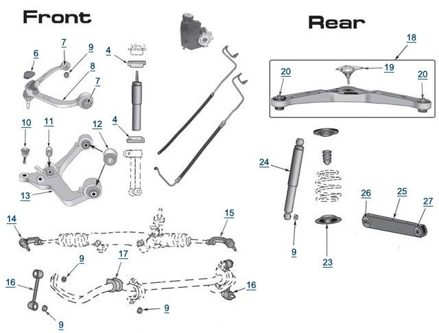 Jeep Liberty Replacement Suspension Parts | Free Shipping At 4Wd in 2002 Jeep Liberty Parts Diagram