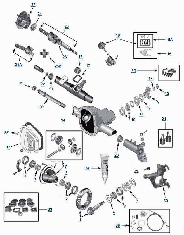 jeep front end parts diagram