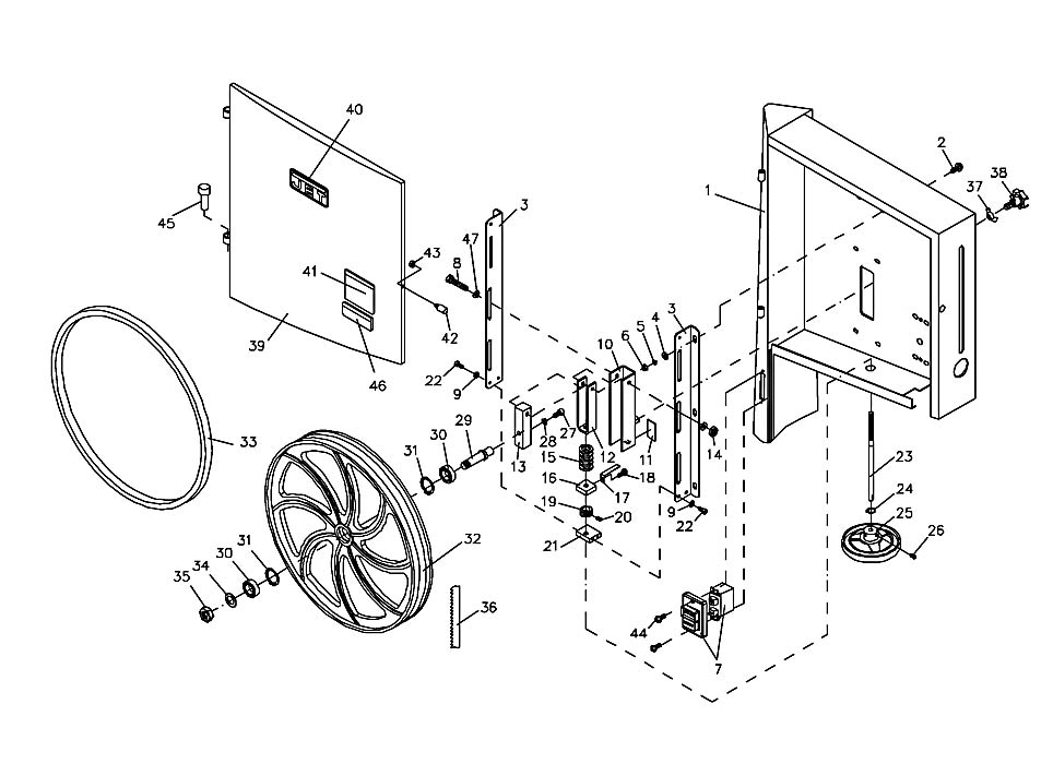 Jet Jwbs-16B Band Saw Parts regarding Jet Band Saw Parts Diagram