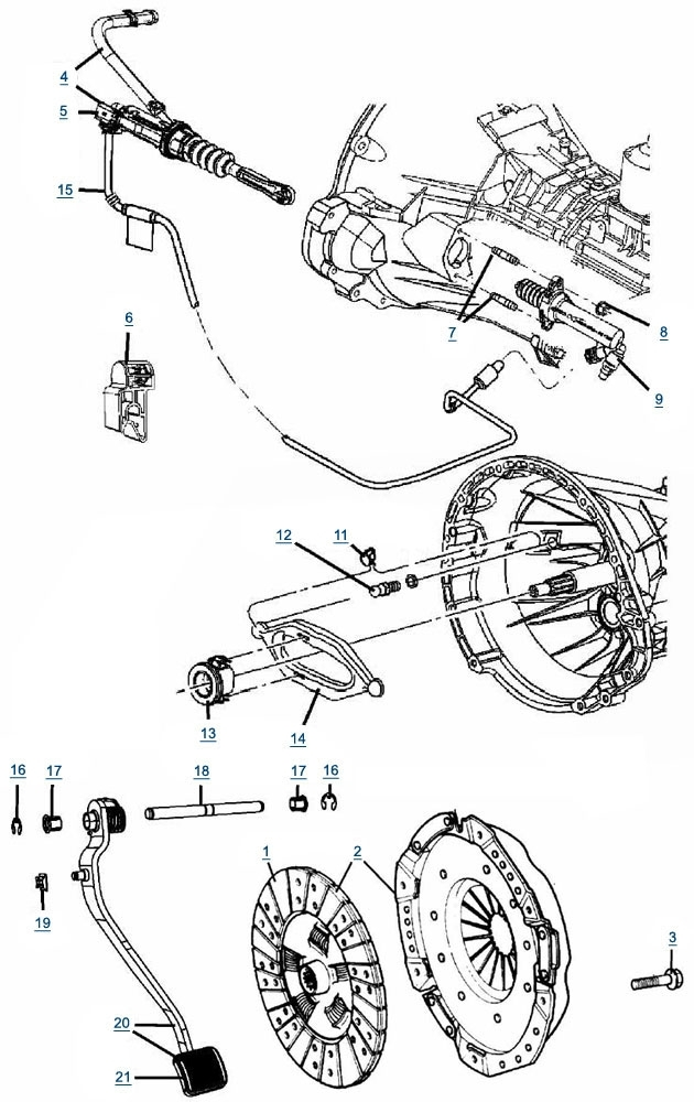 Jk Wrangler Clutch Parts - 4 Wheel Parts with 2000 Jeep Wrangler Parts Diagram