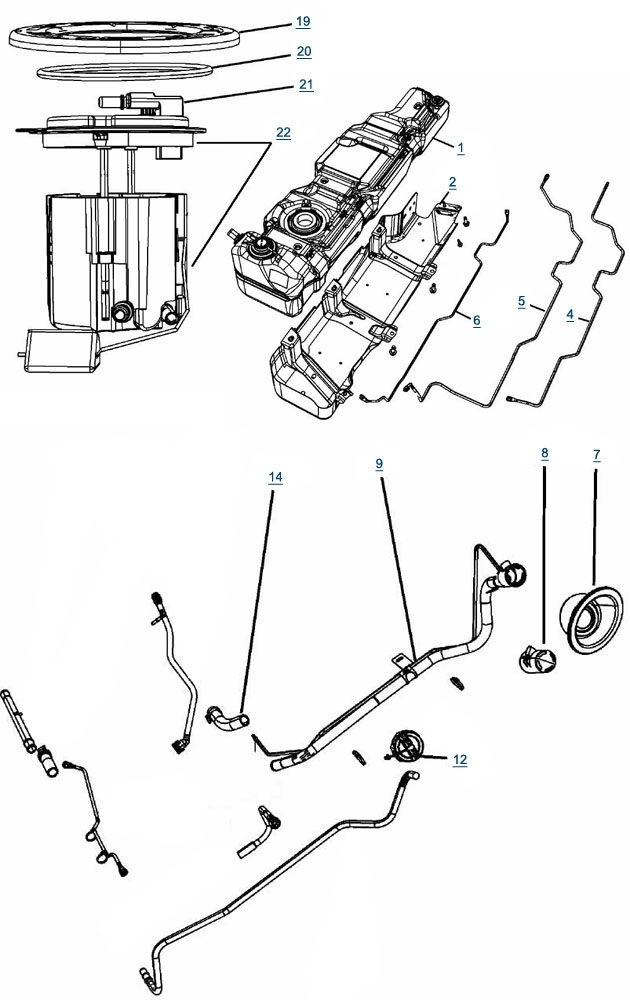 Jk Wrangler Fuel Parts - 4 Wheel Parts throughout Jeep Wrangler Jk Parts Diagram