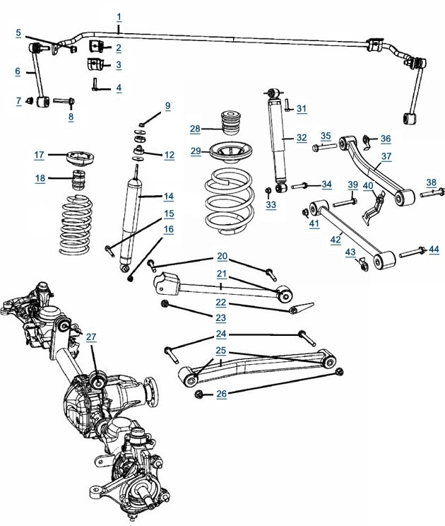 Jk Wrangler Suspension - 4 Wheel Parts within Front End Suspension Parts Diagram