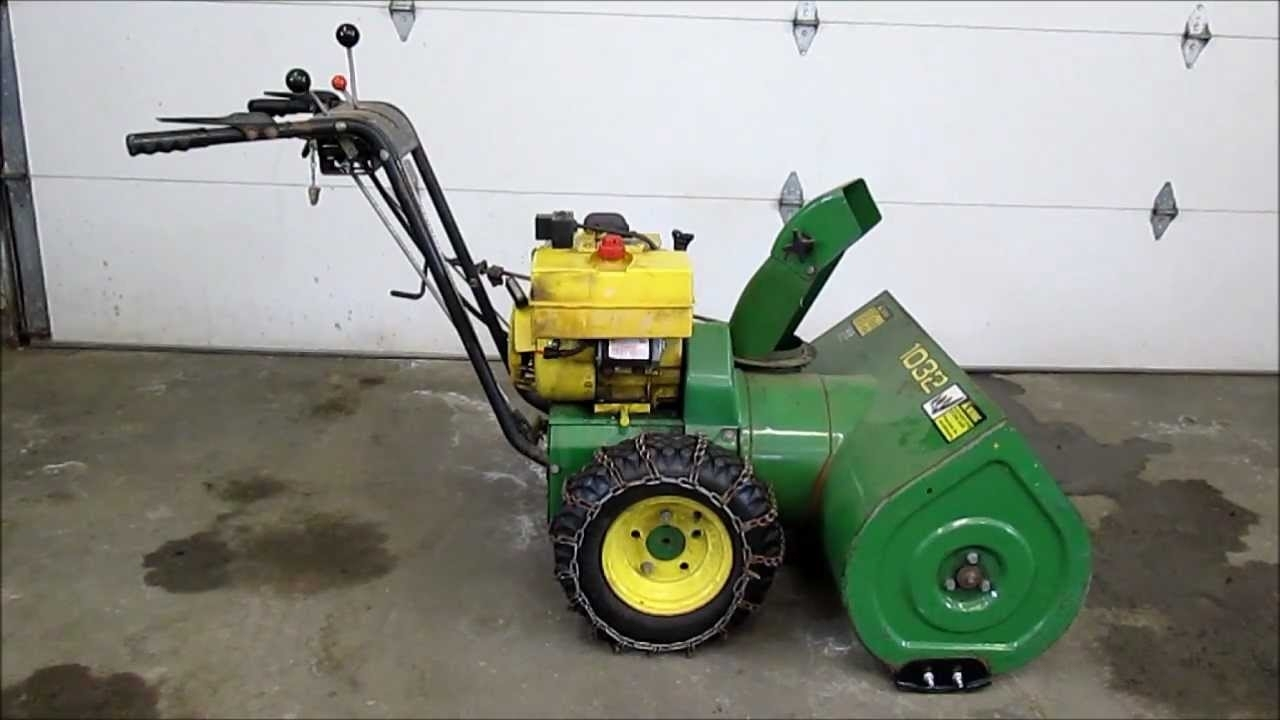 John Deere 1032 Snowblower - Youtube pertaining to John Deere 826 Snowblower Parts Diagram