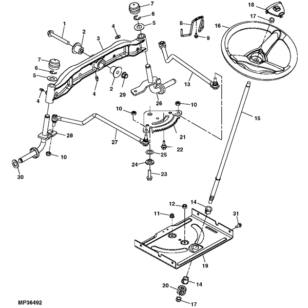 John Deere 155C Lawn Tractor Parts pertaining to John Deere Mower Parts Diagram