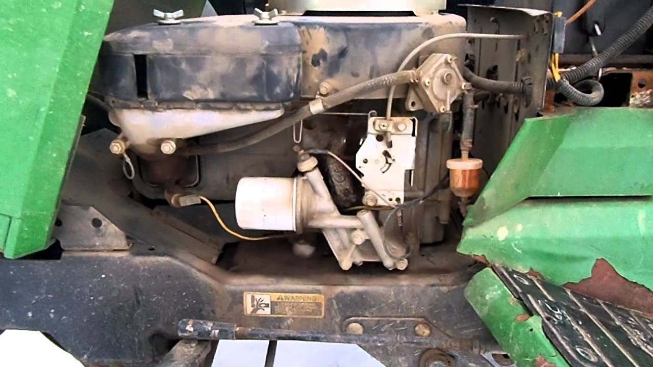 John Deere 265 Garden Tractor Rough Idle Issue.mp4 - Youtube in John Deere 160 Lawn Tractor Parts Diagram
