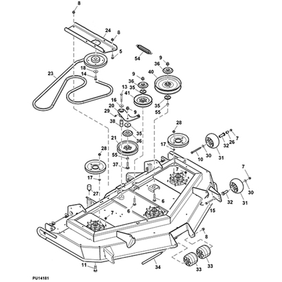 John Deere 997 Z Trak Mower Parts within John Deere Z425 Parts Diagram