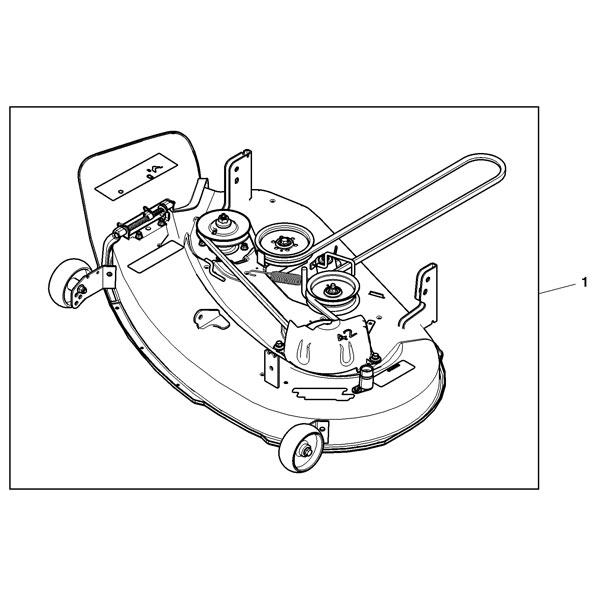 John Deere Complete 42-Inch Mower Deck - Bm23408 pertaining to John Deere Z225 Parts Diagram