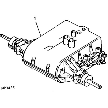 John Deere Complete Transaxle- Mia10320 with John Deere 111 Parts Diagram