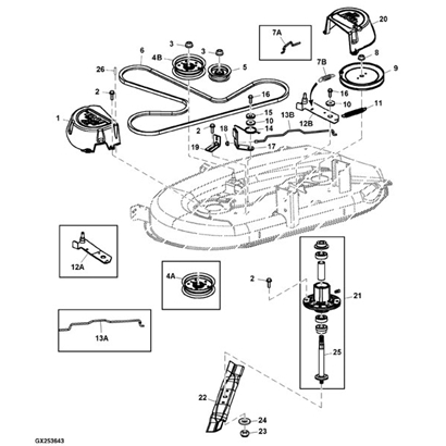 John Deere D105 Lawn Tractor Parts intended for John Deere Tractor Parts Diagram