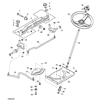 John Deere D150 Lawn Tractor Parts in John Deere L130 Parts Diagram