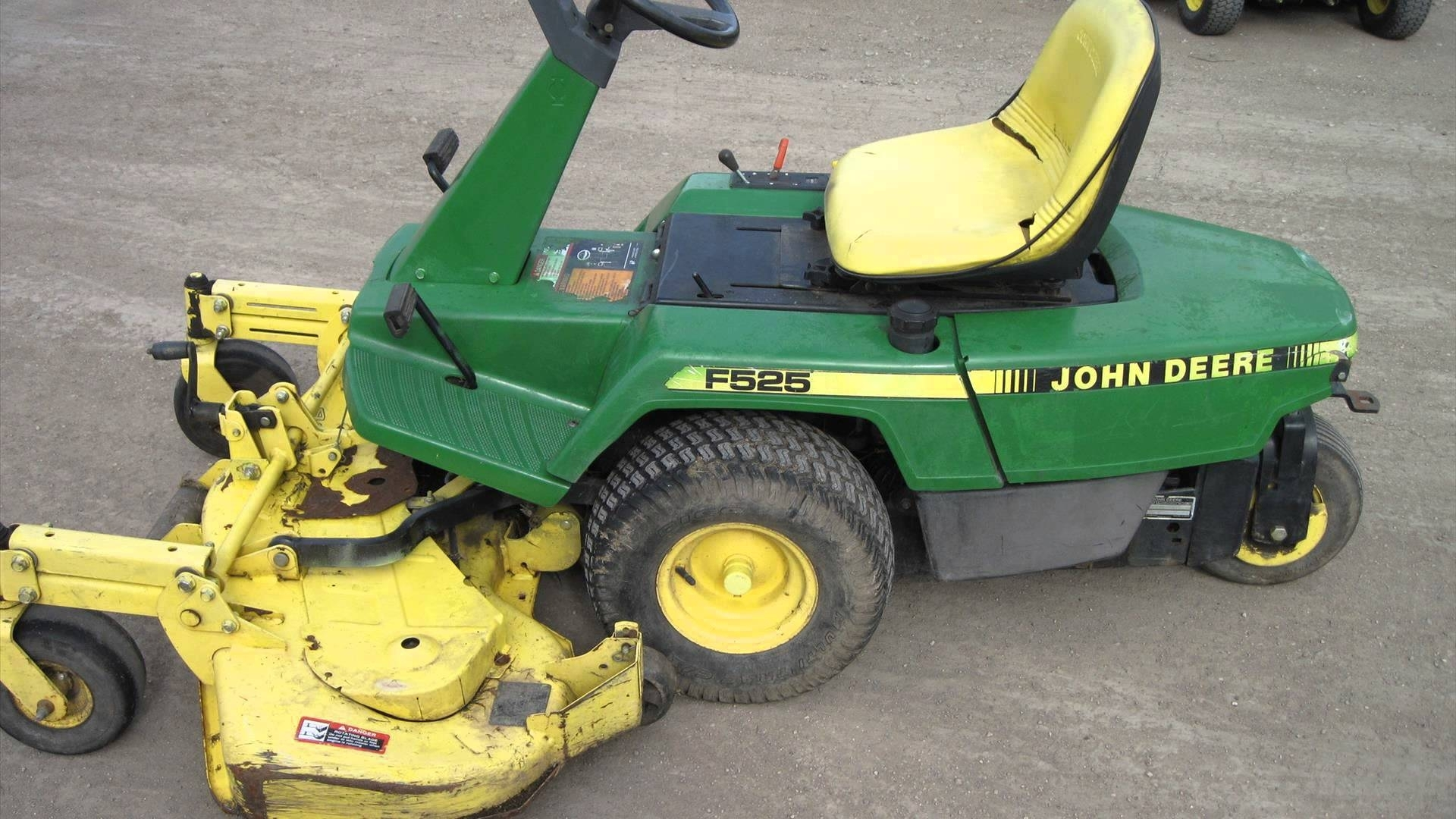 John Deere F525 Lawn Mower - Youtube for John Deere Lawn Mower Parts Diagram
