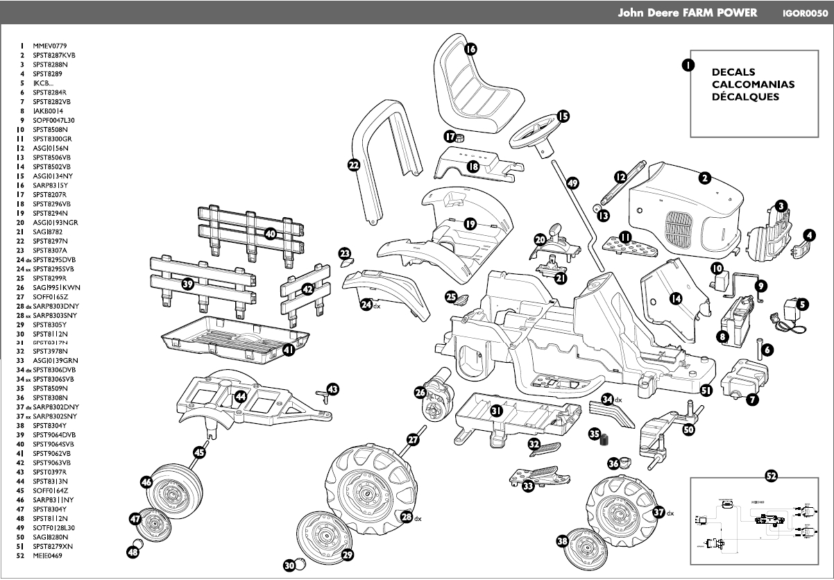 John Deere Farm Power Igor0050 Parts - Kidswheels with John Deere Lawn Mower Parts Diagram