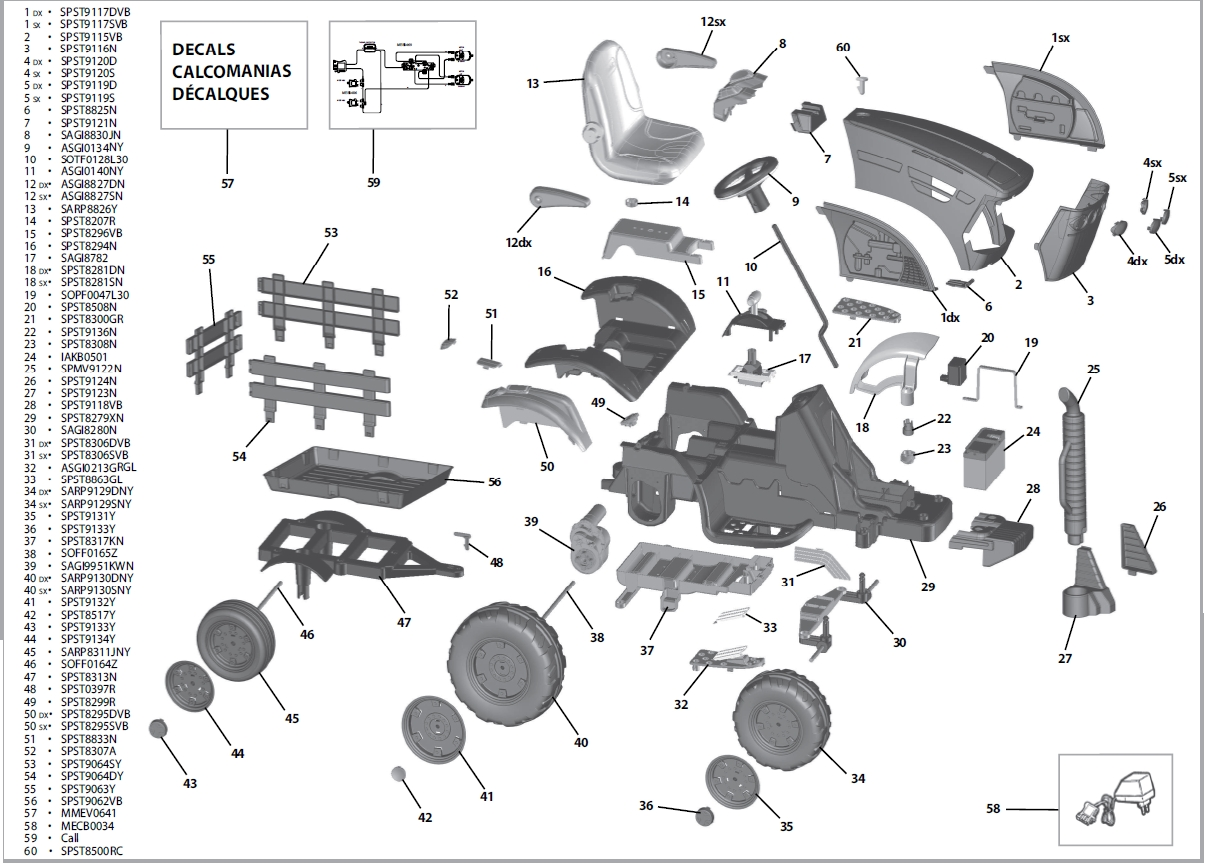 John Deere Ground Force Tractor Igor0039 Parts - Kidswheels inside John Deere Lawn Mower Parts Diagram