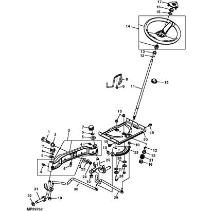 John Deere L130 Lawn Tractor Parts with regard to John Deere Tractor Parts Diagram