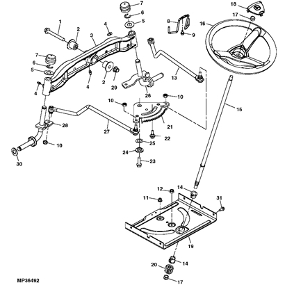John Deere La110 Lawn Tractor Parts intended for John Deere 345 Parts Diagram