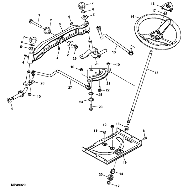John Deere La125 Lawn Tractor Parts with John Deere La125 Parts Diagram