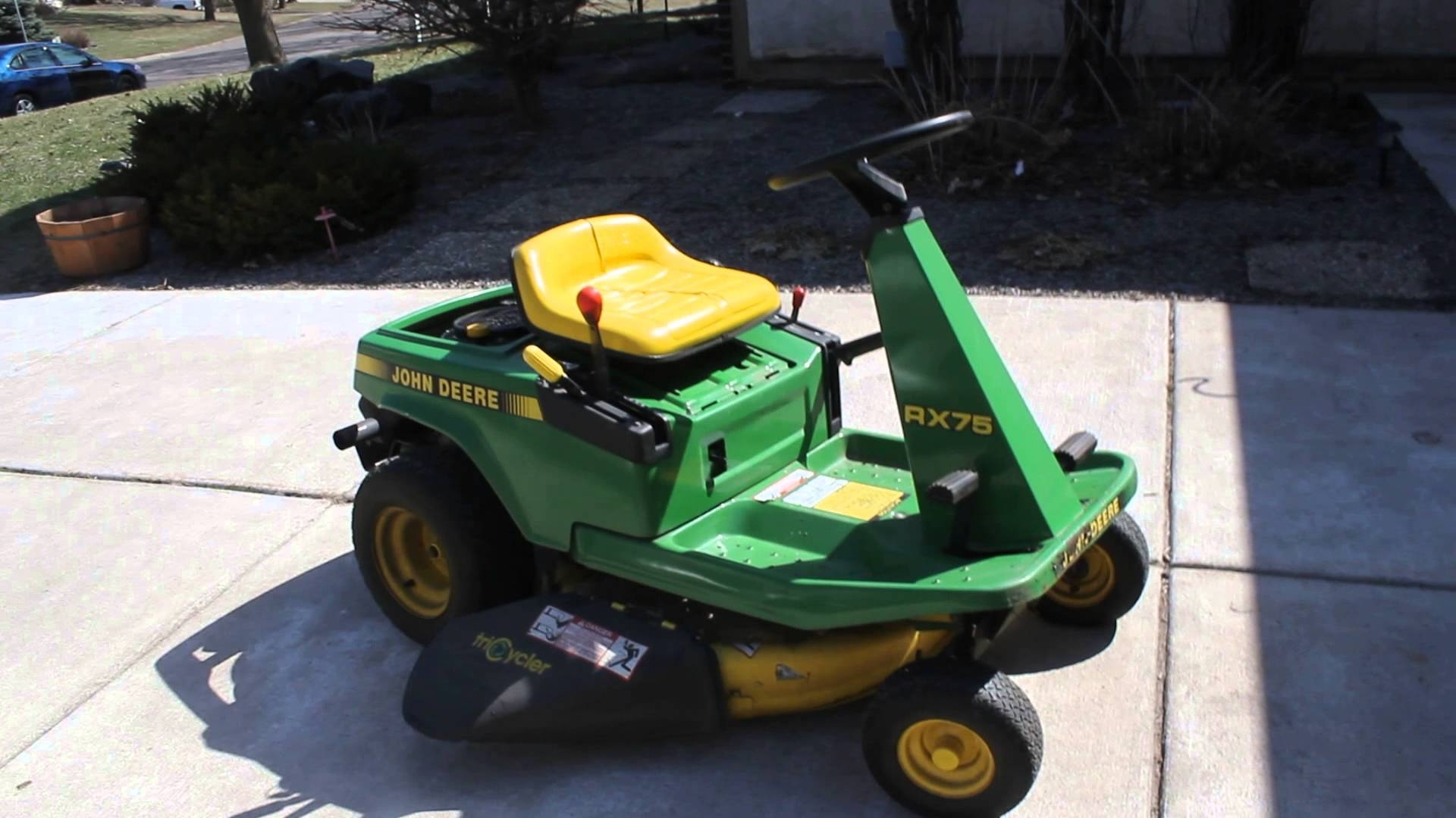 how to change drive belt on john deere riding mower
