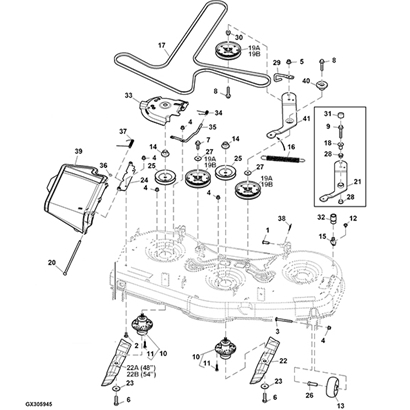 John Deere Z525E Z Trak Mower Parts inside John Deere Z425 Parts Diagram