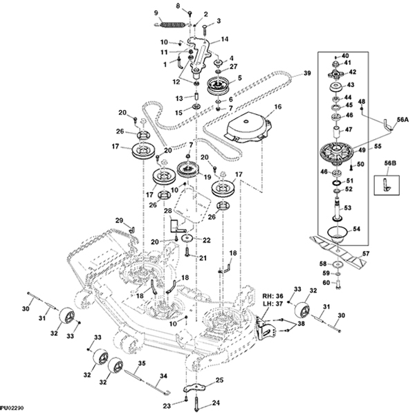 John Deere Z810A Z Trak Mower Parts inside John Deere 425 Parts Diagram