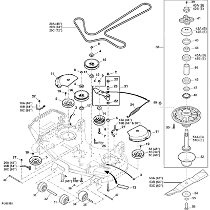 John Deere Z915B Z Trak Mower Parts throughout John Deere Lt155 Parts Diagram