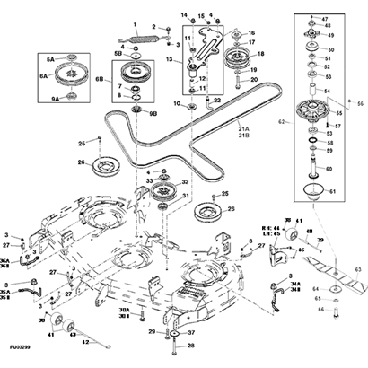 John Deere Z925A Z Trak Mower Parts with John Deere Stx38 Parts Diagram
