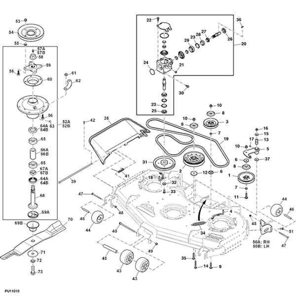 "John Deere Z997R 60"" Deck Parts pertaining to John Deere Deck Parts Diagram"