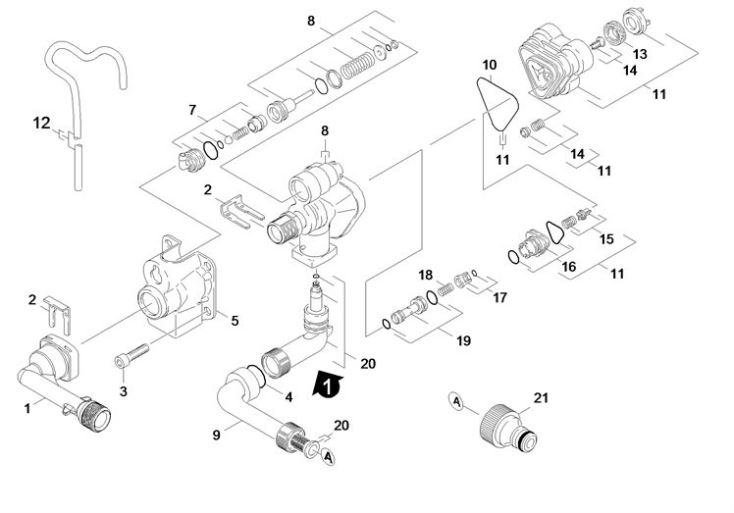 Karcher K4.80 Md Eu (1.950-200.0) Pressure Washer Housing Spare intended for Karcher Pressure Washer Parts Diagram
