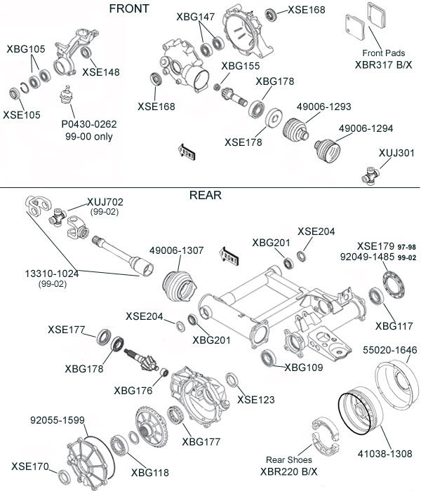 Kawasaki Prairie 300 Parts Diagram