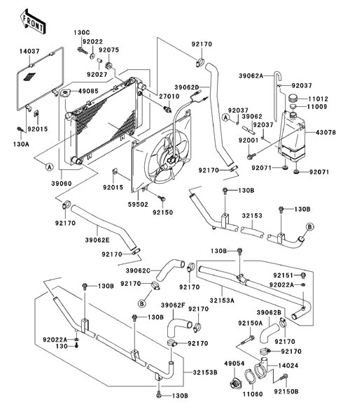 Kawasaki Mule 3010 Parts Diagram