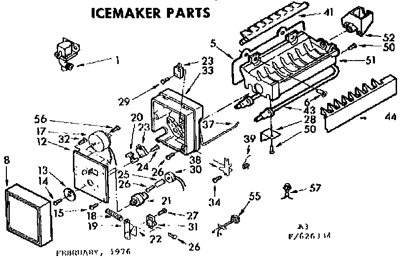 Kenmore Coldspot Icemaker Parts | Model 106626334 | Sears Partsdirect in Kenmore Ice Maker Parts Diagram