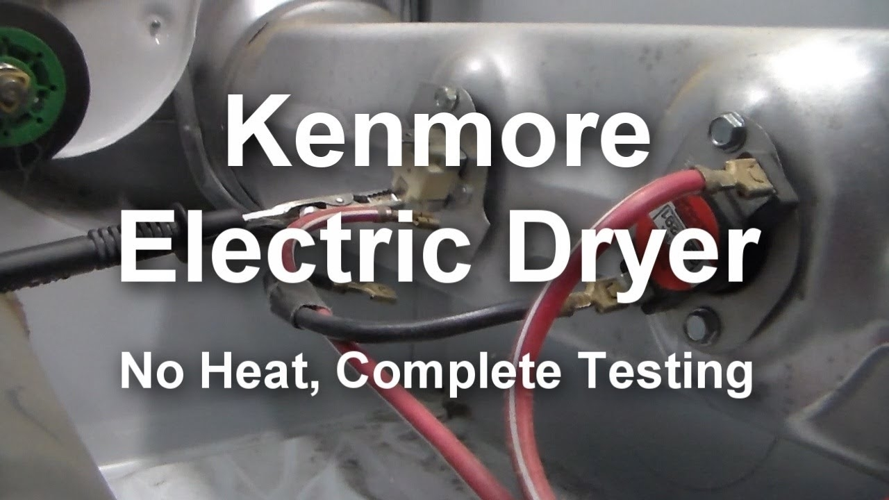 Kenmore Electric Dryer - Not Heating, What To Test And How To Test with regard to Kenmore 90 Series Dryer Parts Diagram