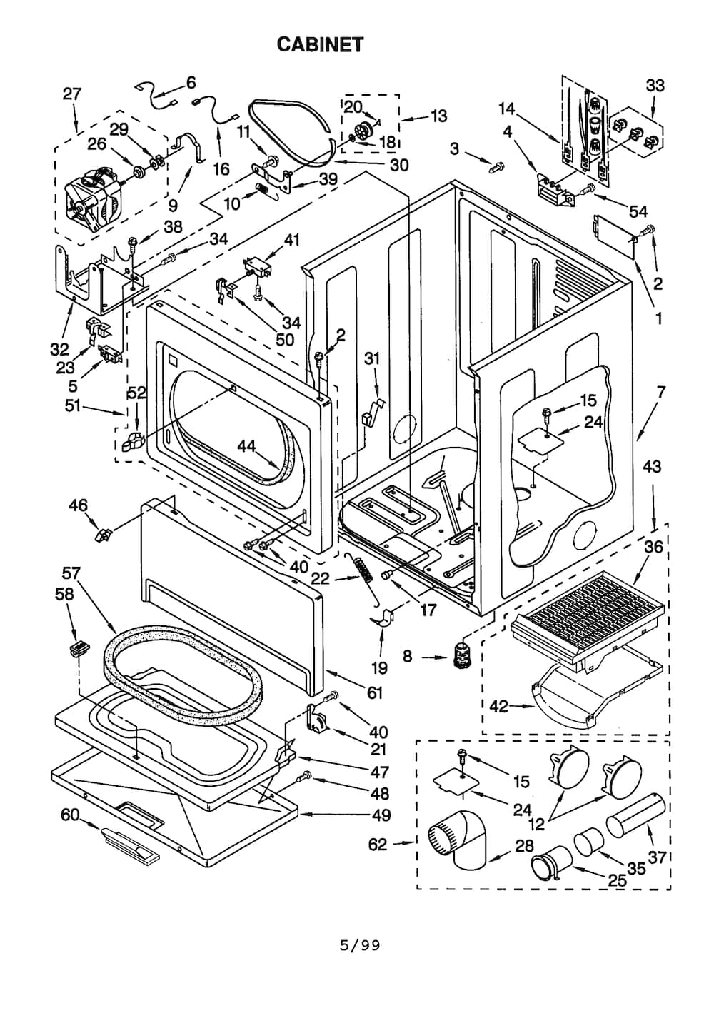 Kenmore Electric Dryer Parts | Model 11060912990 | Sears Partsdirect in Kenmore 90 Series Dryer Parts Diagram