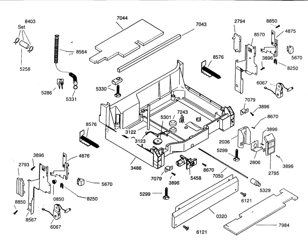 Kenmore Elite Dishwasher Parts | Model 63016303400 | Sears Partsdirect for Kenmore Elite Dishwasher Parts Diagram