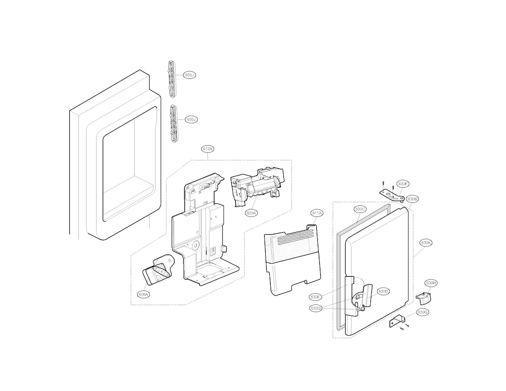 Kenmore Elite Refrigerator Parts | Model 79571053010 | Sears within Kenmore Elite Refrigerator Parts Diagram
