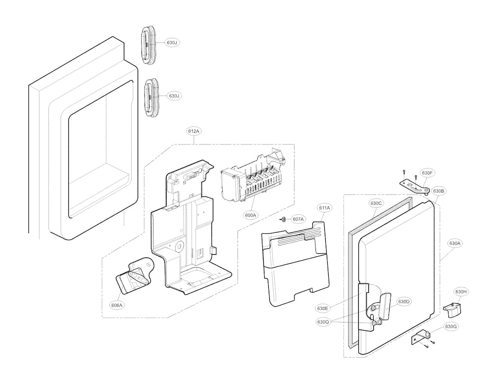 Kenmore Elite Refrigerator Parts | Model 79574043412 | Sears with regard to Kenmore Elite Refrigerator Parts Diagram