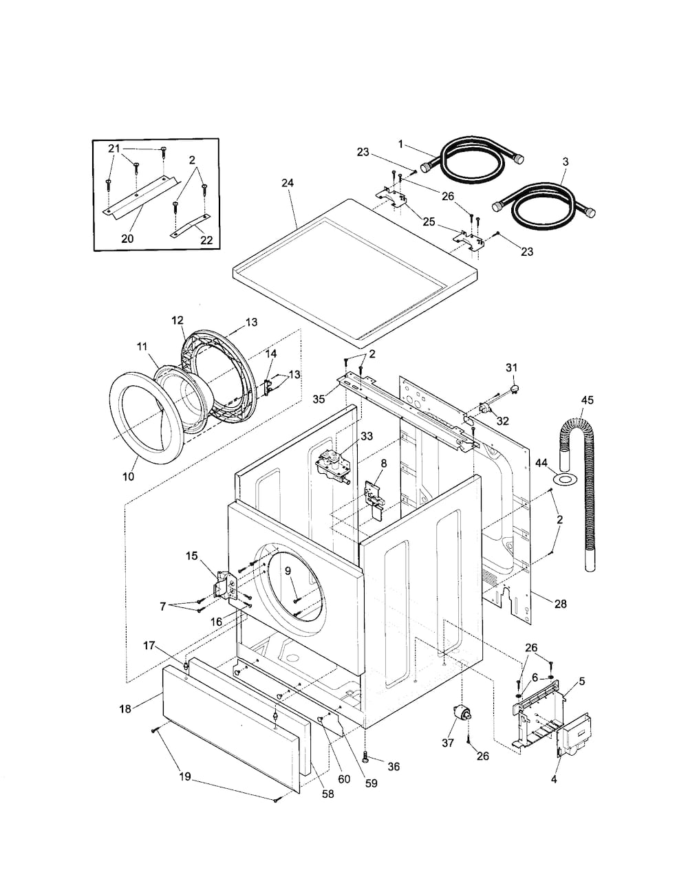 Kenmore Front Load Washer Parts | Model 41729042992 | Sears with regard to Kenmore Front Load Washer Parts Diagram