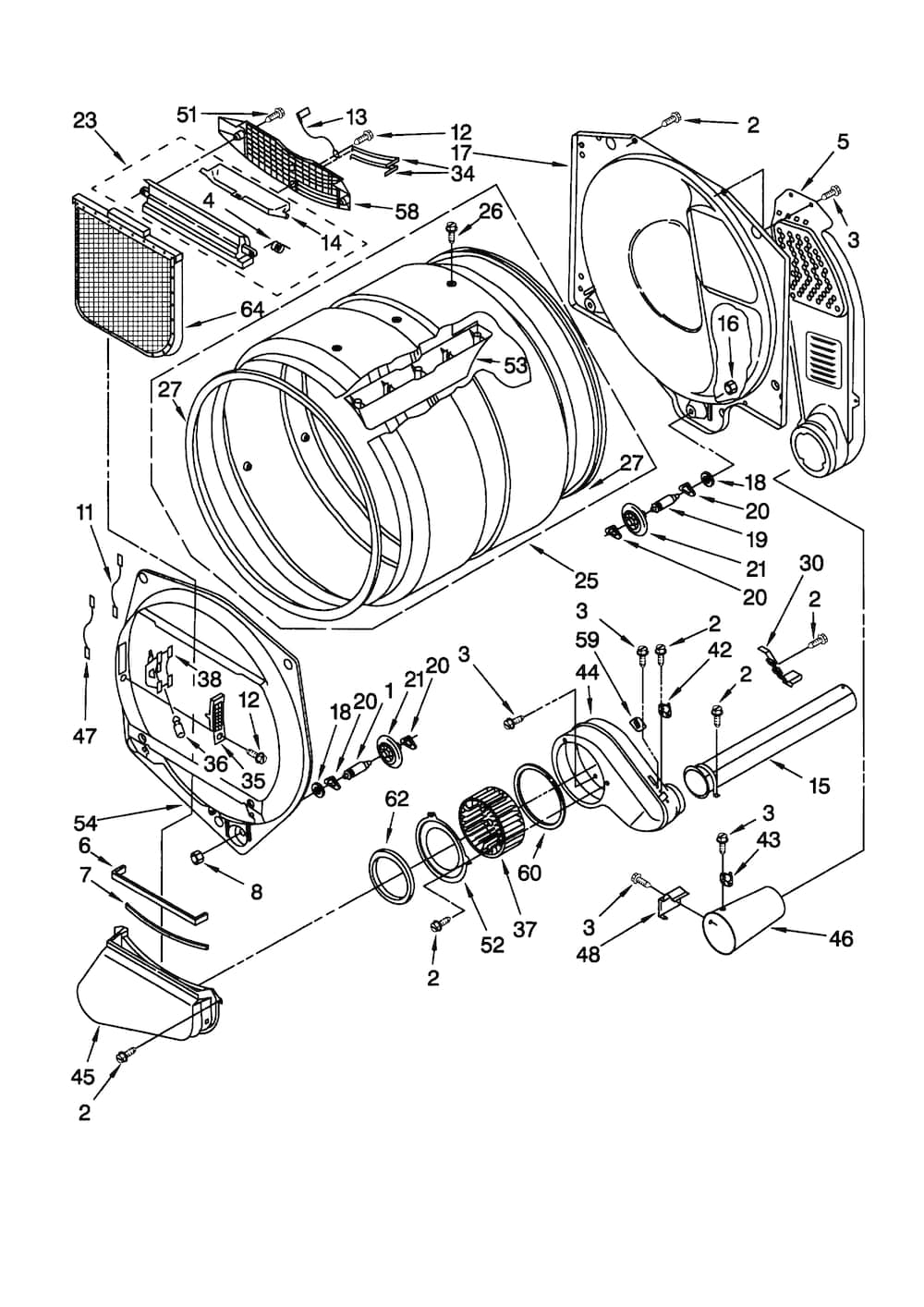Kenmore Gas Dryer Parts | Model 11078942892 | Sears Partsdirect with regard to Kenmore 80 Series Dryer Parts Diagram