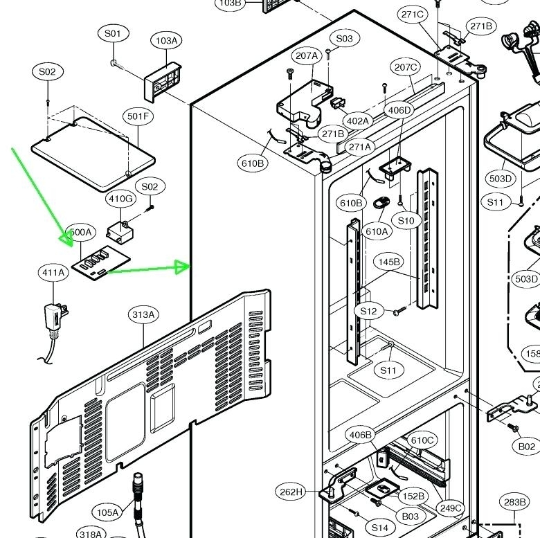 Kenmore Refrigerator Elite Parts Kenmore Elite Refrigerator Parts with regard to Kenmore Elite Refrigerator Parts Diagram