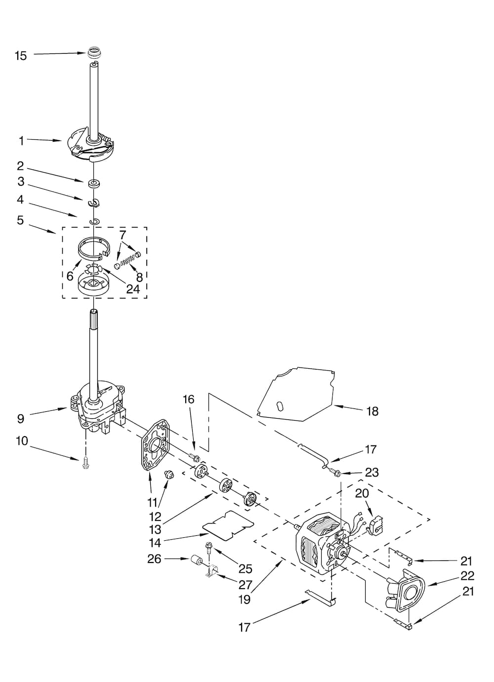 Kenmore Residential Washer Parts | Model 11029822801 | Sears in Kenmore 90 Series Washer Parts Diagram