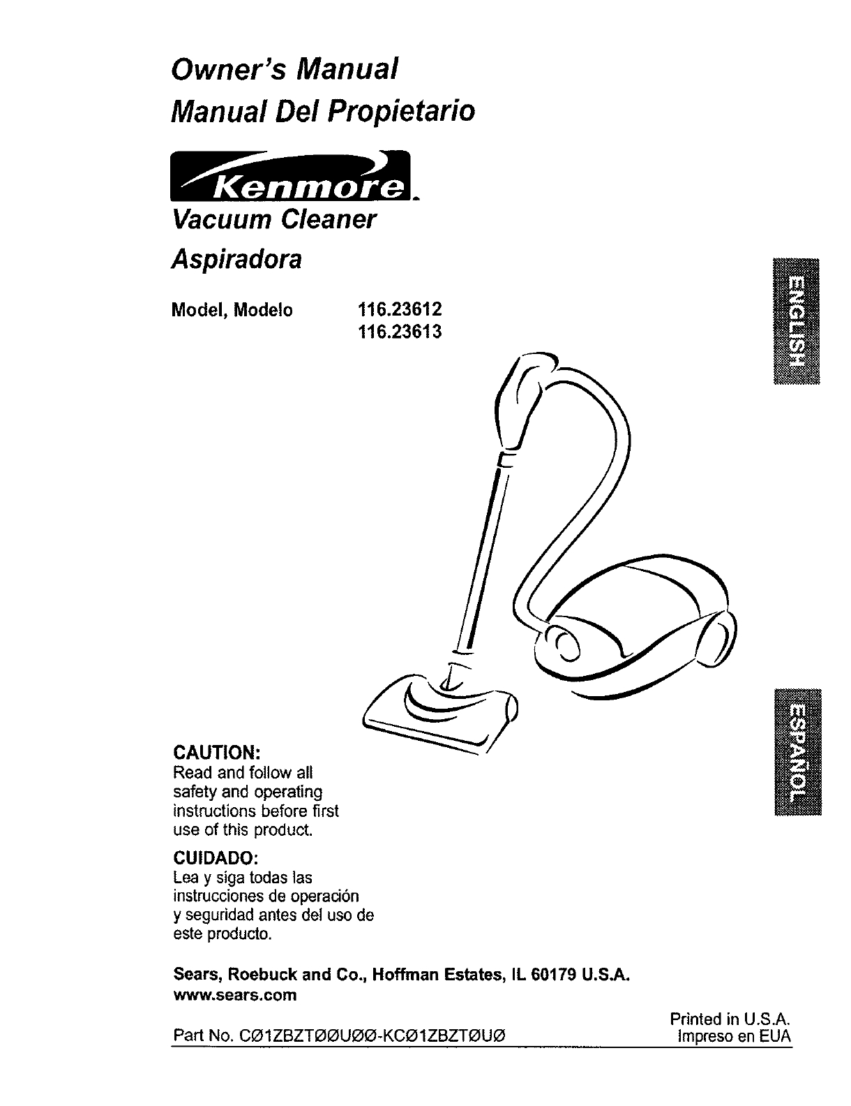 Kenmore Vacuum Cleaner 11623613300 User Guide | Manualsonline regarding Kenmore Vacuum Model 116 Parts Diagram