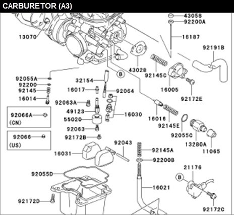 Kfx400 Fuel Mixed In With Oil - Suzuki Z400 Forum : Z400 Forums inside Suzuki Ltz 400 Parts Diagram