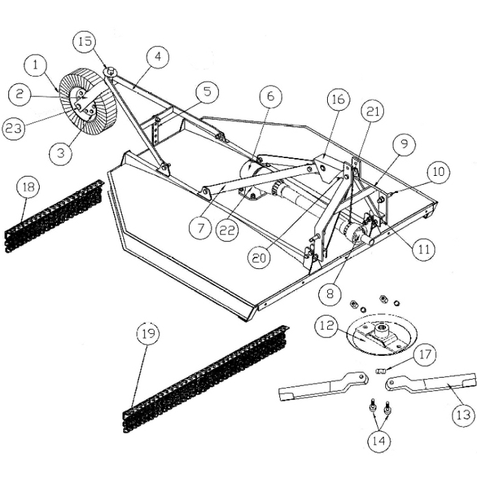 King Kutter Flex Hitch Kutter Parts : Rural King intended for King Kutter Tiller Parts Diagram