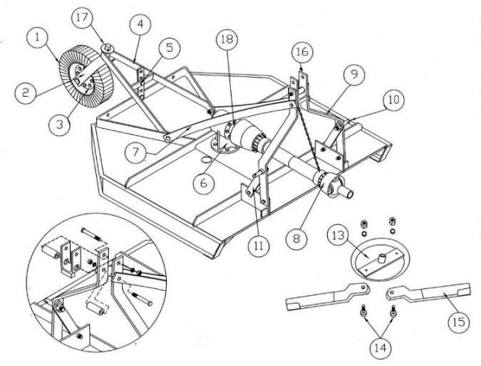 King Kutter Rotary Kutter Parts : Rural King pertaining to King Kutter Tiller Parts Diagram