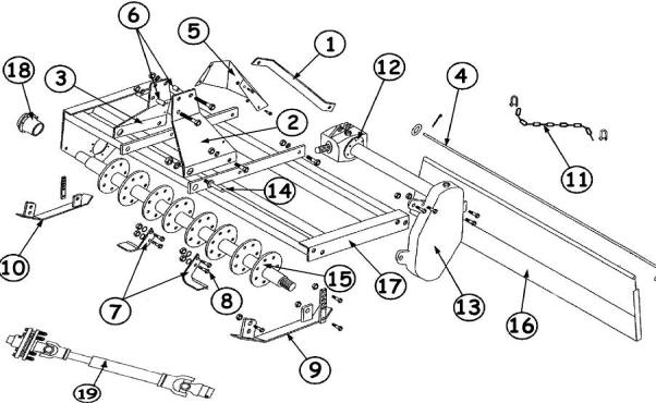 King Kutter Rotary Tiller Parts | King Kutter Tiller Parts intended for King Kutter Tiller Parts Diagram