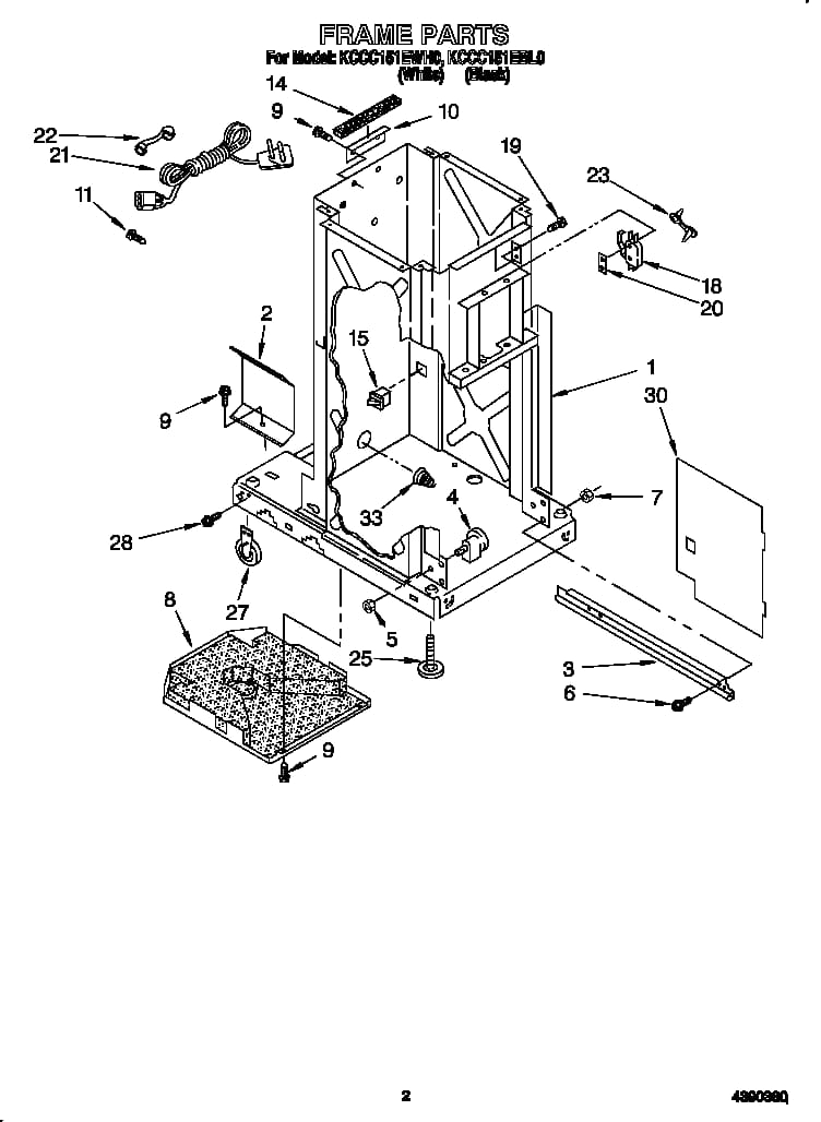 Kitchenaid Trash Compactor Parts | Model Kccc151Ewh0 | Sears within Kitchenaid Trash Compactor Parts Diagram