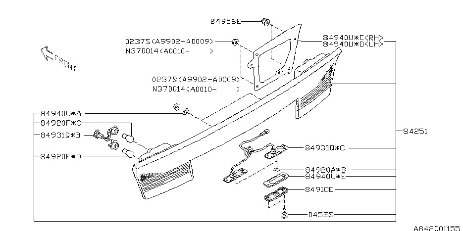Lamp - Rear For 2001 Subaru Outback | Subaru Parts Deal inside 2001 Subaru Outback Parts Diagram